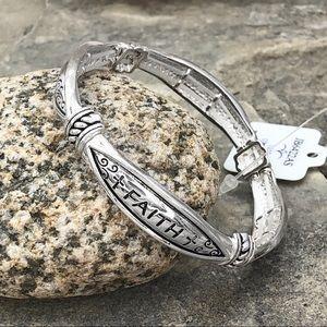 🍀CLOSEOUT🍀 Faith Hope Love Stretch Bracelet